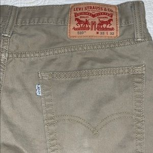 Levi's 510 tan jeans